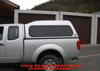 Basic Hardtop für Toyota Hilux ab 05 X-Cab hoch seitlich geschlossen