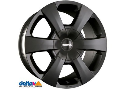 Alufelge Delta WP Mitsubishi L200 & Fiat Fullback 7,5x16 6x139,7 Et +30, schwarz