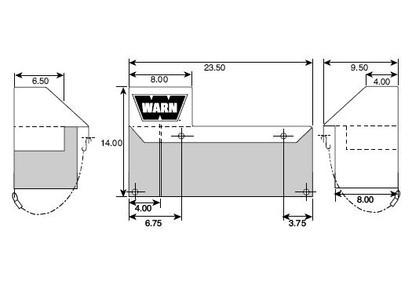 Abdeckhaube FS Trucks für 9,5XP, XD9000 und M8000 Contactor über dem Motor
