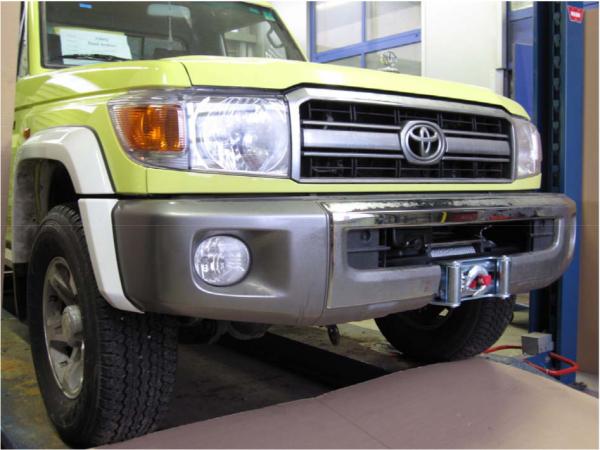 Windenanbausatz Toyota HZJ 78/79 , 07 ->, ohne TÜV Teilegutachten