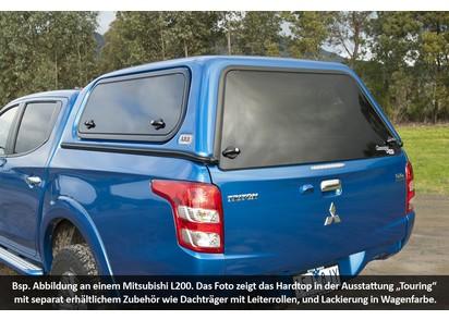 Commercial Hardtop für Mitsubishi L200 ab 15, Doka, flach, seitl. Aluklappen