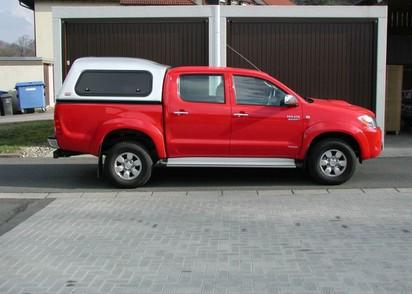 Touring Hardtop für Toyota Hilux 05-16 Doka hoch seitl. Klappfenster