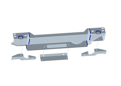 Seilwindenanbausatz Toyota J15 15-18 ohne Seilwinde