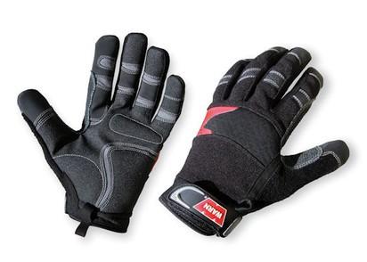 WARN Arbeitshandschuhe XL Synth.-Leder mit Kevlar-Verstärkung schwarz-grau