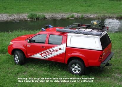 Standard Hardtop für Toyota Hilux 05-1 Doka flach mit Schiebefenster