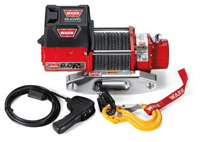 Seilwinde WARN 9.0Rc 12V 4.080 kg Zugkraft mit Kunststoffseil und Zubehör