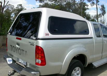 Touring Hardtop für Toyota Hilux ab 05 X-Cab hoch seitliche Klappfenster