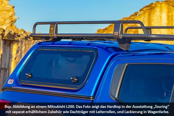 Touring Hardtop für Mitsubishi L200 ab 10, DC, glatt, flach, seitl. Klappen.