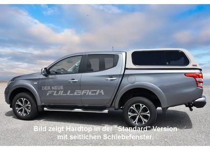 Touring Hardtop für Fiat Fullback ab 15 Doka, flach, seitl. Klappfenster