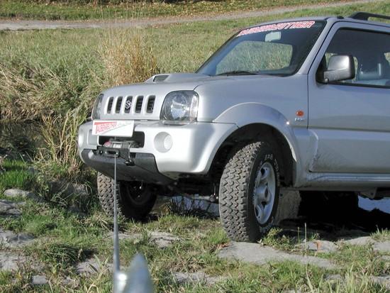 Windenanbausatz Suzuki Jimny Benziner bis 18 für WARN ProVantage 4500-S, Set
