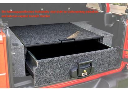 Outback Modular Schublade, mit Auszug, 845 x 790 x 280 (Außen in mm), grau