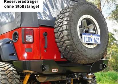 "ARB Reserveradträger für HSS Jeep Wrangler YJ/TJ/JK, -35"""
