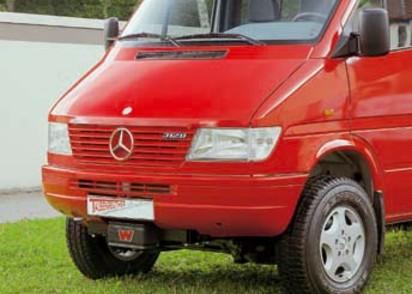 Seilwinden Set Mercedes Sprinter + VW LT alle Modelle bis 06 mit WARN XD9000