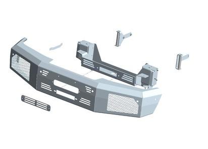 Seilwindenstoßstange Mercedes G350 & G500 16-18, inkl. ZEON 10
