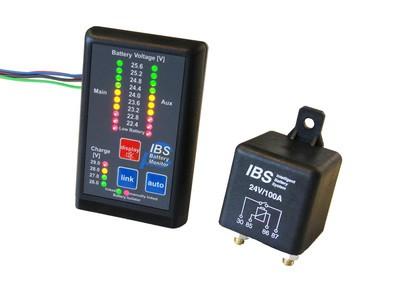 IBS Doppelbatteriesystem IBS-DBS, 24-V, mit Monitor