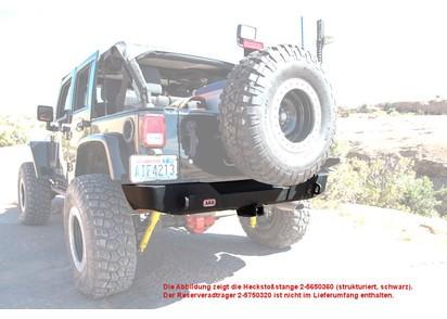 ARB Heckstoßstange Jeep Wrangler JK, glatt pulverbeschichtet
