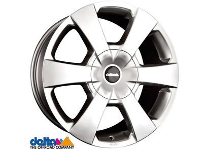 Alufelge Delta WP Toyota Hilux Revo 7,5x16 6x139,7 Et +15, silber