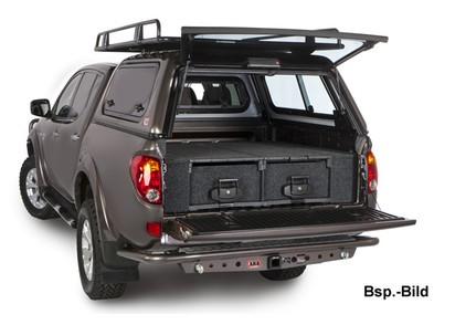 Abdeckung Outback Schublade seitlich Toyota Hilux 05->, Doka, XtraCab (Set)