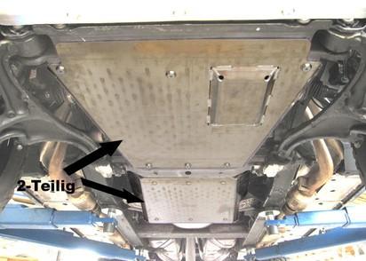Unterfahrschutz Mercedes Benz G463A G500 ab 18 & G350D ab 19, Getriebe