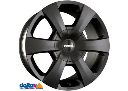 Alufelge Delta WP Toyota Hilux Revo 7,5x16 6x139,7 Et +15, schwarz